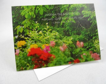 FLORAL Classic Folded Notecard with Envelope - Floral Photography with Inspirational Message, Blank Inside