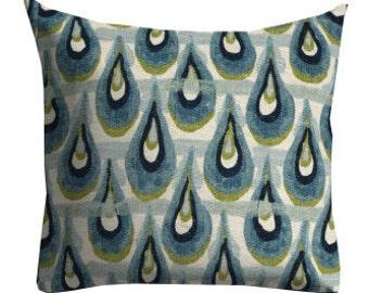 chair pillows, lumbar pillow cover, 12x12 pillow, ikat pillow, blue pillow cover, blue ikat pillow, ikat lumbar, accent pillow, blue pillows