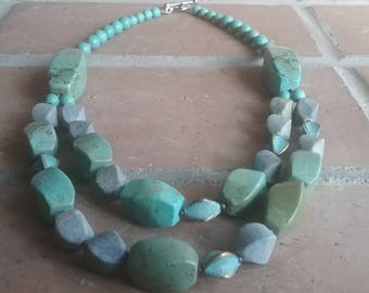 Turquoise two-tier necklace