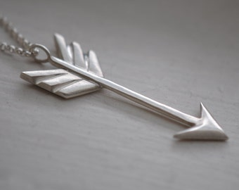 Arrow Necklace, Arrow Necklace Silver, Arrow Necklace Sterling SIlver, Arrow Charm Necklace