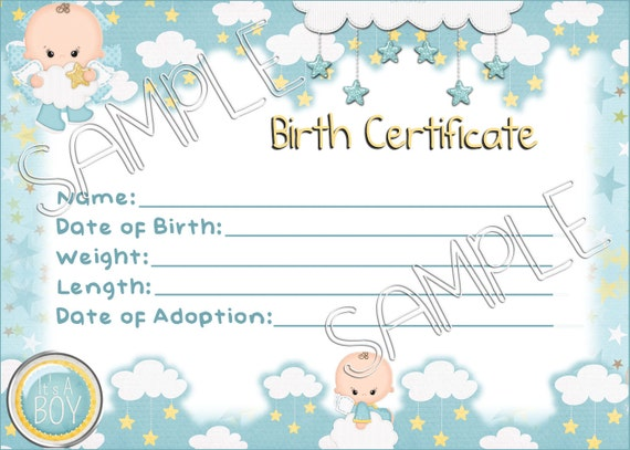 Its a boy reborn baby doll birth certificate instant its a boy reborn baby doll birth certificate instant download you print png jpeg and pdf files for 8x10 yadclub Image collections
