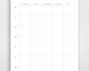 Weekly Planner, Business Planner, Printable Planner, Week Calendar, Modern Planner, Planner Download, Weekly To Do List, Minimalist Planner
