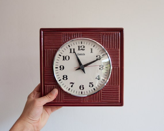 Wall Clock Modern Vintage Ceramic Kitchen Clock Retro
