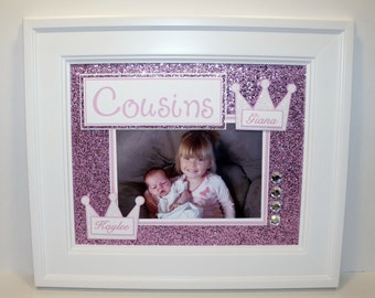 Personalized Cousins Picture Frame - 8x10  Deluxe Frame Included - YOU CHOOSE COLOR - Names Can Be Added Too!