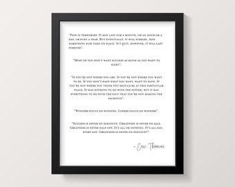 Eric Thomas Print - Motvational Office Print - Motivational - Print - Motivational Print - Typography Print - Digital Print