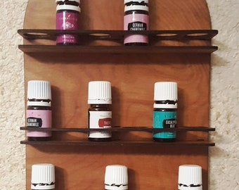 Essential oils bottle storage rack, wall mount, small