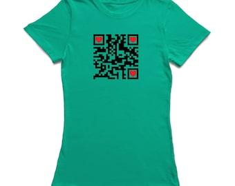 Heart Qr Code Design Women's T-shirt