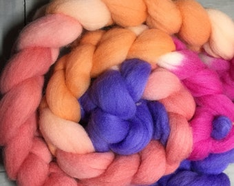 Amsterdam Hand Dyed Corriedale Wool Top Roving