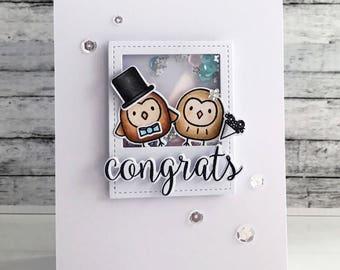 Congrats Owl Couple Card