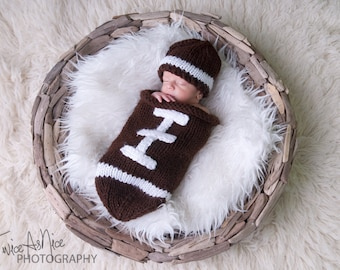 Football Hat and Cocoon Set