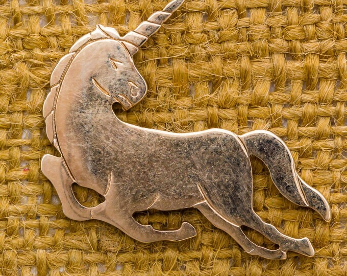 Unicorn Lapel Pin Vintage Tie Tack Gold Men's Accessories Collar Stay Add On Avon Brand 7WW