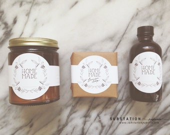Homemade Labels - Packaging -DIY - Holiday Gifts - For the Maker - Soap Labels - Candle Labels - Canning Stickers - QTY 32