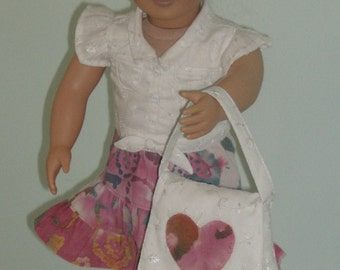 Free Shipping. 6 Piece dress ensemble made to fit American girl and Our Generation Dolls