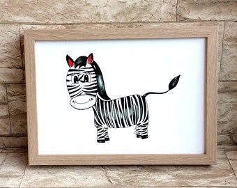 Nursery picture Zebra