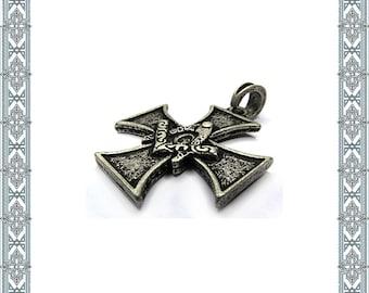 Chain pendant masonic Cross old silver pendant cross Secret Covenant Amulet Medallion Historic Jewelry Antique Jewellery conspiracy