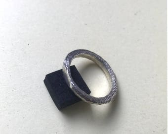 """Silver """"sea-forged"""" ring"""