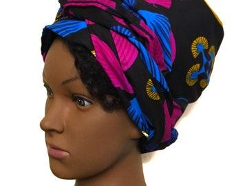 Ankara Satin lined headwrap/turban.