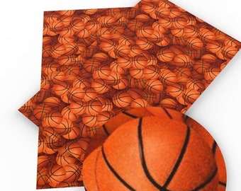 Basketball Faux Leather Sheet