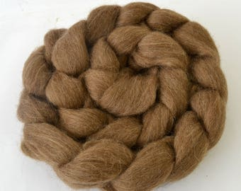 Brown Finnish Landrace Wool Combed Top - Heritage Breed - 100 grams