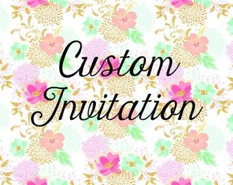 Custom Invitation 5x7 Design Printable Digital Download
