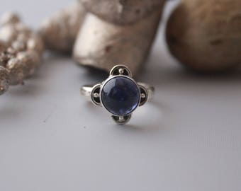 Cute Amethyst ring set in Sterling Silver