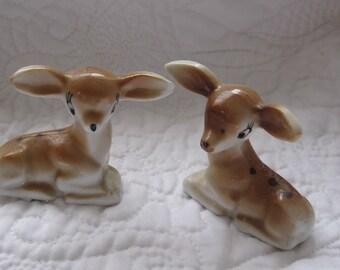 Vintage Deer Figurine, Porcelain Deer, Vintage Baby Deer, Fawn Figurine Mid  Century,Vintage Cabin Decor, Woodland Figurine box a