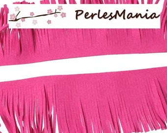 20 cm suede fringe trim creating TASSELS 30mm hot pink