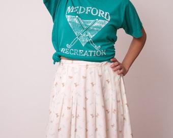 Vintage Graphic Tee - Vintage Medford Recreation Field Hockey T-Shirt - Teal Vintage Tshirt - Vtg Sports T-Shirt - Size Medium T-Shirt