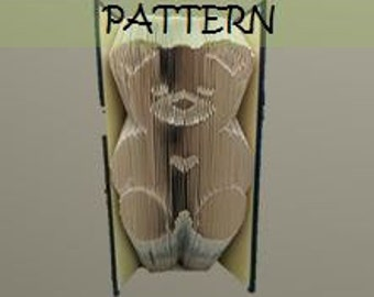 Book folding Pattern: TEDDY BEAR design (including instructions) – Diy gift – Papercraft Tutorial - perfect Christening gift