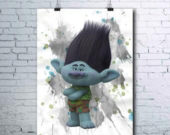 Trolls - Trolls Birthday - Branch - Trolls Party - Trolls Prints - Trolls Poster - Trolls Printables - Branch Print - Branch Wall Art