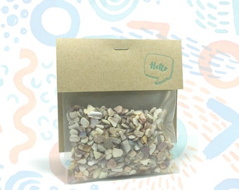 Crushed Seashells Terrarium Filler // 3oz // Hello Tilly Airplant