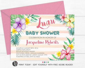 Cheap luau baby shower invitations satisfying luau baby shower luau baby shower invitations announcements zazzle filmwisefo