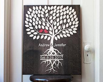 Alternative Wedding Guest signing Book | 18x22 | Alternative Wedding Guest Book | 3d Wood Tree Guest Book | wedding singing book