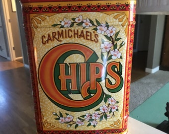 Carmichael's Chips Tin Canister
