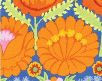 Fabric by the Yard- Kaffe Fassett Artisan Flower Border Orange