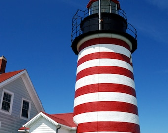 West Quoddy Light, Lighthouse, Maine, Wall Art