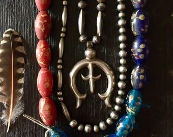 Chinese Dragon Eye Glass Beads: 1920's