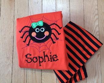 Personalized Halloween pajamas - Girls Halloween Pajama - Boys Halloween Pajama - Sibling Halloween Pajama - Kid Halloween PJ