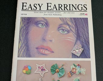 Great Condition Vintage 1989 Easy Earrings Book by Tulip Productions, Craft Books, CLJewelrySupply, Free Ship in US