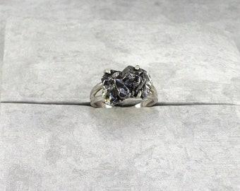 Meteorite Ring Campo del Cielo Sterling Silver size 7 3/4