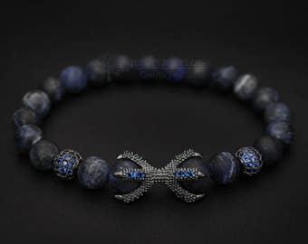 Dragon Claw Bracelet, Claw Bracelet, Stretch, Silver Claw Bracelet, Mens Bracelet, Womens Jewelry, ブレスレット, Armband, Pulsera