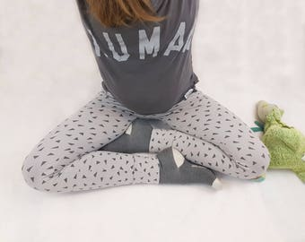 MAMA Legging Geometric Triangle Womens Legging Handmade