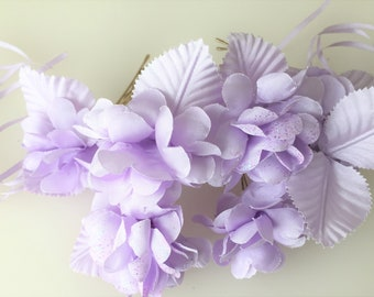 Bridal Hair Accessories, Lavender Rose, Lilac flower Hair Bobby Pin- set 10