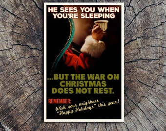 The War On Christmas Does Not Rest // Postcard