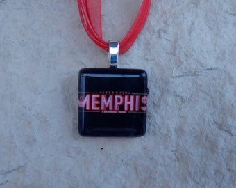 Broadway Musical Memphis Glass Pendant and Ribbon Necklace