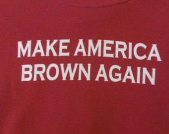 Kids Make America Brown Again Screen Print T-shirt