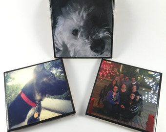 4pc. Personalized Photo Tile Coasters