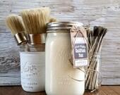 Handmade ChalkFinish Paint, Goat'sMilk White, Cream Furniture, Cream Frame, Painted Furniture, Cream Chevron, Cream Chairs, Shabby Chic, DIY