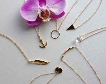 Dainty Gold Necklace - Gold Fill Necklace Gold Filled Chain 14K Gold Filled Gold Necklace Set Gold Jewelry Dainty Necklace Simple Necklace