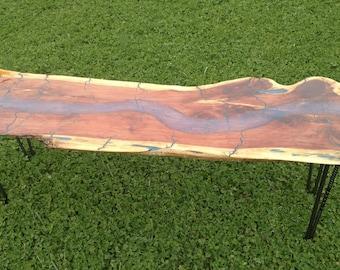Fractal burnt cedar table
